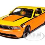 2011 Ford Mustang GT Orange Custom 1/24 Diecast  Model Car by Maisto