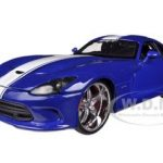 2013 Dodge Viper GTS SRT Blue Custom 1/24 Diecast Model Car by Maisto