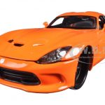 2013 Dodge Viper GTS SRT Orange Modern Muscle 1/24 Diecast Model Car by Maisto