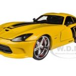 2013 Dodge Viper GTS SRT Yellow Custom 1/24 Diecast  Model Car by Maisto