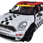 Mini Cooper Coutryman White #13 1/24 Diecast Car Model by Maisto