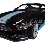 2015 Ford Mustang GT 5.0 Black Custom 1/24 Diecast Model Car by Maisto