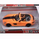 Mercedes SLS AMG Roadster Orange Custom 1/24 Diecast Model Car by Maisto