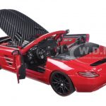 Mercedes SLS AMG Red/Black Carbon Fiber Hood Exotics 1/24 Diecast Model Car by Maisto