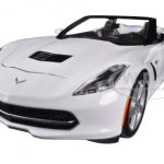 2014 Chevrolet Corvette C7 Stingray Convertible White 1/24 Diecast Car Model by Maisto