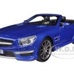 Mercedes SL 63 AMG Convertible Blue 1/24 Diecast Model Car by Maisto