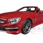 Mercedes SL 63 AMG Convertible Red 1/24 Diecast Model Car by Maisto