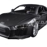 Audi R8 V10 Plus Grey Special Edition 1/24 Diecast Model Car by Maisto