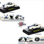 1965 Shelby Mustang GT350R R Model & 1965 Shelby GT350 Factory Drag Car 2pc Cars Set IN BLISTER PACK 1/64 Diecast Model Cars by M2 Machines
