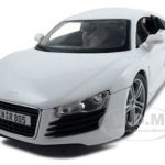 Audi R8 White 1/18 Diecast Model Car by Maisto