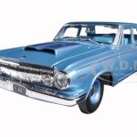 1963 Dodge 330 Blue 1/18 Diecast Model Car by Maisto