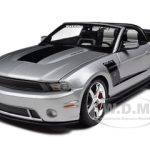 2010 Ford Mustang Convertible 427R Roush Edition Silver 1/18 Diecast Model Car by Maisto
