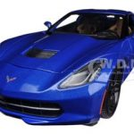 2014 Chevrolet Corvette Stingray C7 Z51 Blue 1/18 Diecast Model Car by Maisto