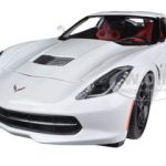 2014 Chevrolet Corvette Stingray C7 Z51 White 1/18 Diecast  Model Car by Maisto