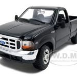 1999 Ford F-350 Super Duty Pickup 4×4 Diecast Car Model 1/27 Black Die Cast Car by Maisto
