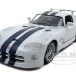 Dodge Viper GT2 White 1/24 Diecast Model Car by Maisto