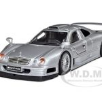 Mercedes CLK GTR AMG Street Version Silver 1/26 Diecast Model Car by Maisto