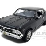 1966 Chevrolet Chevelle SS 396 Black 1/24 Diecast Model Car by Maisto