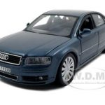 Audi A8 Blue 1/26 Diecast Model Car by Maisto