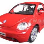 Volkswagen New Beetle Red 1/25 Diecast Model Car By Maisto