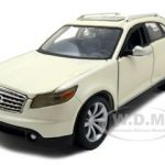 Infiniti FX45 Pearl White 1/24 Diecast Model Car by Maisto