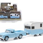 1963 Dodge D-100 and Shasta 15 Airflyte Hitch & Tow Series 6 1/64 Diecast Model by Greenlight
