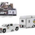 2015 Chevrolet Silverado 1500 and IMS Gift Shop Trailer Hitch & Tow Series 6 1/64 Diecast Model by Greenlight