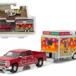 2015 Chevrolet Silverado & State Fair Concession Trailer Hitch & Tow Series 7 1/64 Diecast Car Model by Greenlight