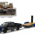 2015 Dodge Ram Pickup Truck Mopar Edition & Flatbed Trailer Hitch & Tow Series 7 1/64 Diecast Car Model by Greenlight