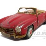 1955 Mercedes 190 SL Red Old Friends 1/18  Diecast Model Car by Maisto