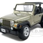 Jeep Wrangler Rubicon Diecast Car Model Khaki 1/27 Diecast Model Car by Maisto