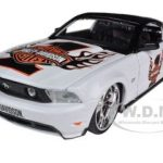 2010 Ford Mustang GT White #1 Harley Davidson 1/24 Diecast Model Car by Maisto