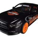 2015 Ford Mustang Harley Davidson Black 1/24 Diecast Car Model by Maisto