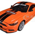 2015 Ford Mustang Harley Davidson Orange 1/24 Diecast Car Model by Maisto