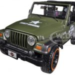Jeep Wrangler Rubicon Harley Davidson Green 1/27 Diecast Model by Maisto
