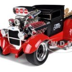 1929 Ford Model A Matt Black/Red Muscle Machines 1/18 Diecast Model Car by Maisto