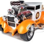 1929 Ford Model A Orange/White Muscle Machines 1/18 Diecast Model Car by Maisto