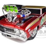 1969 Chevrolet Chevelle Red Muscle Machines 1/18 Diecast Model Car by Maisto