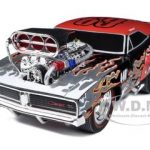 1969 Dodge Charger Black Muscle Machines 1/18 Diecast Model Car by Maisto