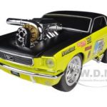 1966 Ford Mustang Yellow Gasser Muscle Machines 1/24 Diecast Model Car by Maisto