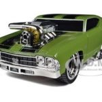 1969 Chevrolet Chevelle SS Green Muscle Machines  1/24 Diecast Model Car by Maisto