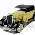 1933 Cadillac Series 452c Fleetwood Phaeton Yellow 1/32 Diecast Model Car by Signature Models