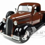 1937 Plymouth Pickup Truck Brown 1/32 Diecast Model Car by Signature Models