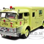 1960 Mack C Fire Rescue Box Yellow 1/50 Diecast Model Car by Signature Models