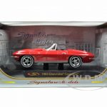 1963 Chevrolet Corvette Convertible Red 1/32 Diecast Model Car by Signature Models