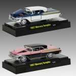 Auto Thentics 1957 Mercury Turnpike 2pc Car Set  WITH CASES 1/64 Diecast Model Cars by M2 Machines