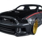 Ford Mustang Street Racer Grey and Black Modern Muscle 1/24 Diecast Model Car by Maisto