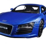 Audi R8 Satin Metallic Blue Exotics 1/24 Diecast Model Car by Maisto