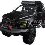 2017 Ford F-150 Raptor Pickup Truck Matt Black Off Road Kings 1/24 Diecast Model Car  by Maisto