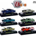 Detroit Muscle 6 Cars Set Release 34 IN DISPLAY CASES 1/64 Diecast Model Cars by M2 Machines
